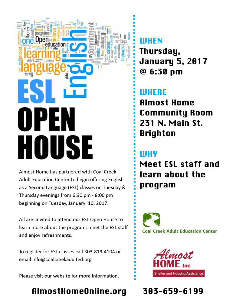 ESL Classes Coming to Almost Home