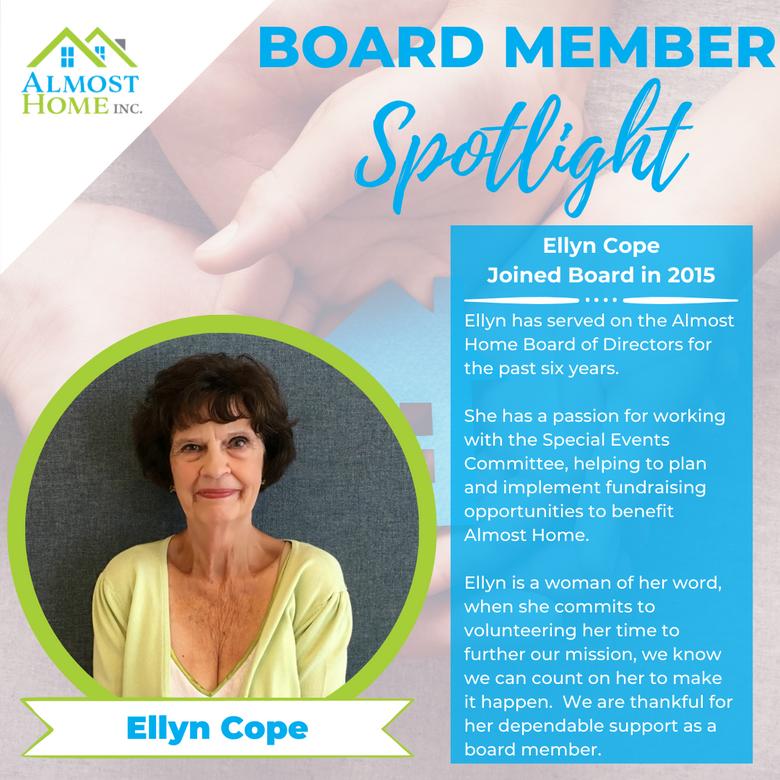 Board Member Spotlight - Ellyn Cope
