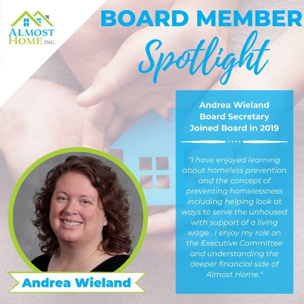 Board Member Spotlight - Andrea Wieland, Secretary