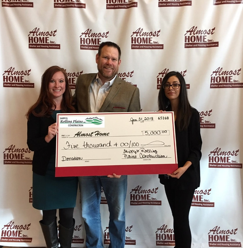Donation from Shippy's Rolling Plains Construction