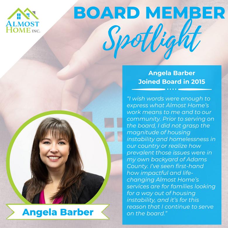 Board Member Spotlight - Angela Barber