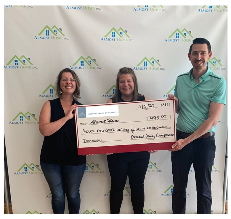 Essential Family Chiropractic Donates to Almost Home