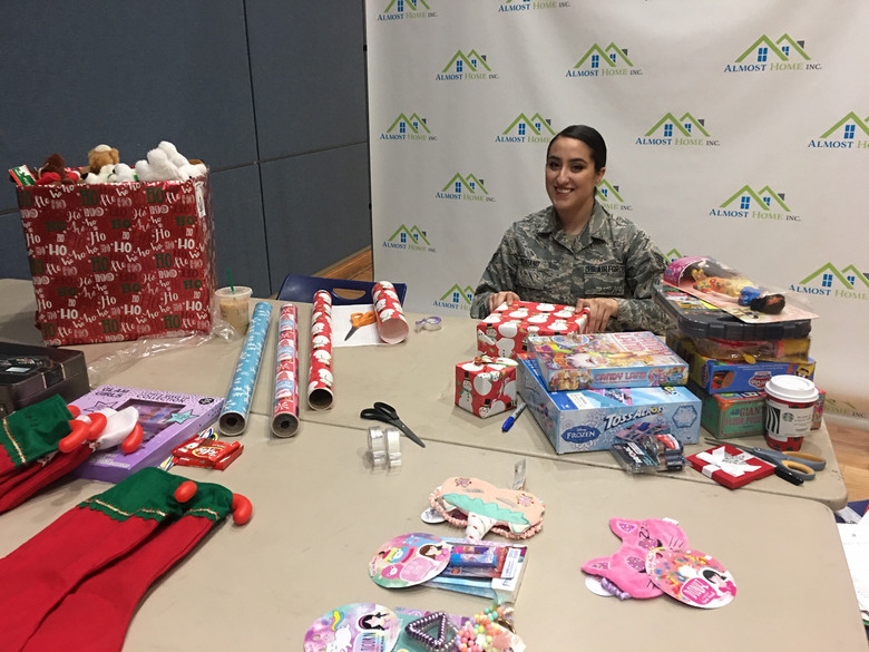 Military Member Donates Time to Almost Home During Holidays