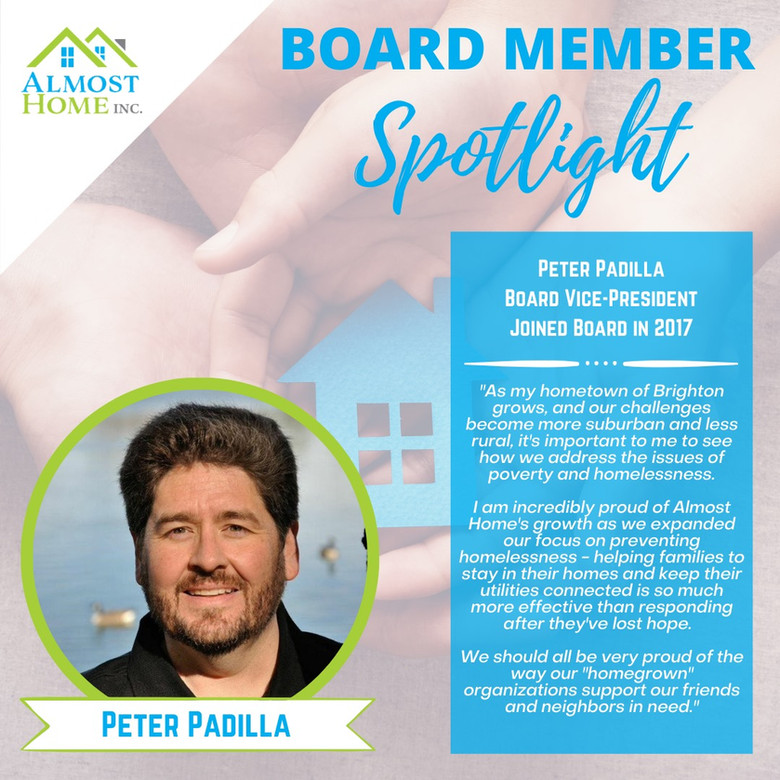 Board Member Spotlight - Peter Padilla, Board Vice-President