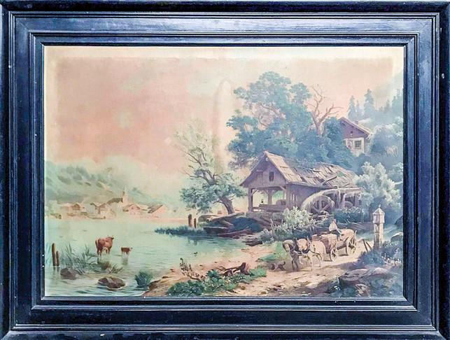 Č. 17 Autor neznámý / Krajina / tisk na plátně / rozměr 76 x 52