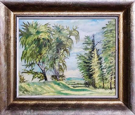 Č. 37  V. Holický 1932 / Letní krajina / olej na plátně / rozměr 37 x 54,5