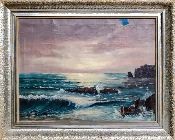Č. 25 Autor neznámý / Moře / olej na plátně / rozměr 47,5 x 64