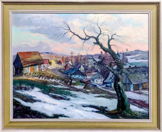 Č. 8 Ferdinand Tásler / Česká vrchovina / olej na sololitu / rozměr 59,5 x 76,5