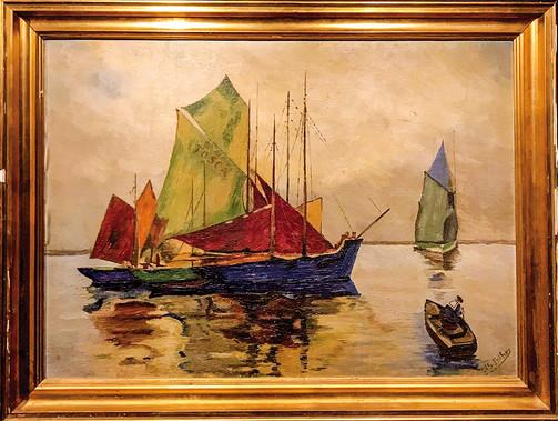 Č. 39 J. Š. Fothher / Tosca / olej na plátně / rozměr 64,5 x 89
