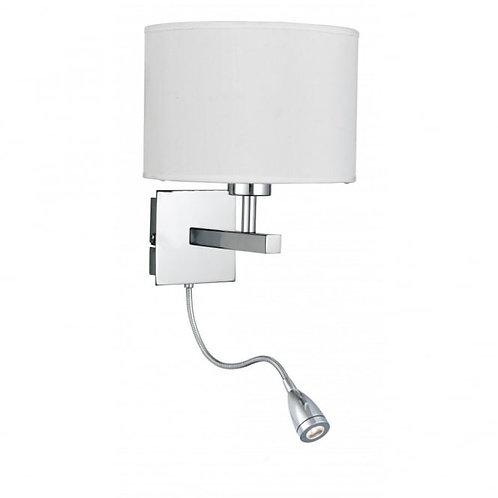 კედლის სანათი ROOM White wall lamp with LED reader