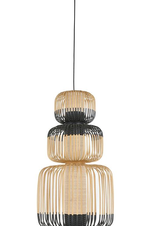 დასაკიდი სანათი Suspension Bamboo Light 3 Lights Noir