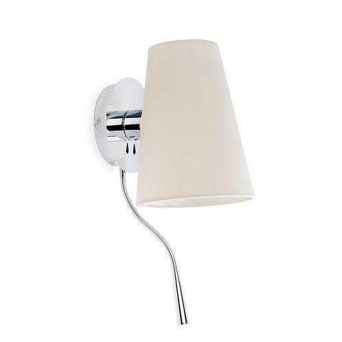 კედლის სანათი Lupe Chrome Wall Lamp With Led Reader
