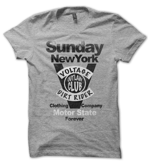 Teeshirt Gris chiné New York Aloha G