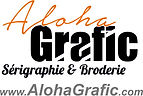 serigraphie t shirt, broderie sur casquette aloha grafic