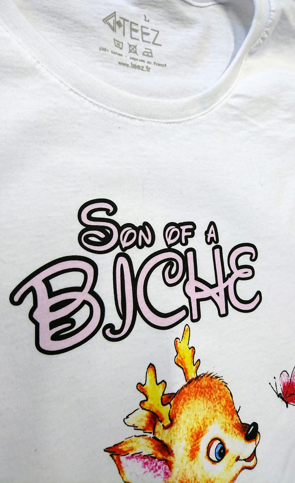 Tee shirt parodie Bambi pour Teez.fr | Aloha Grafic