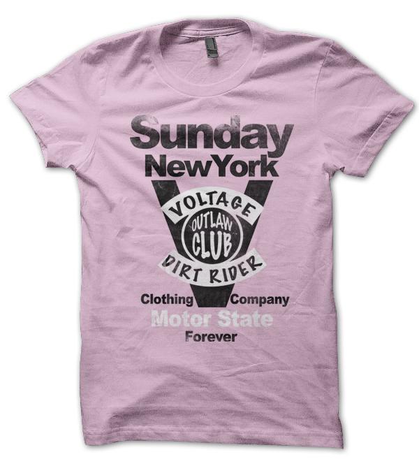 Teeshirt Sunday Rose, New York