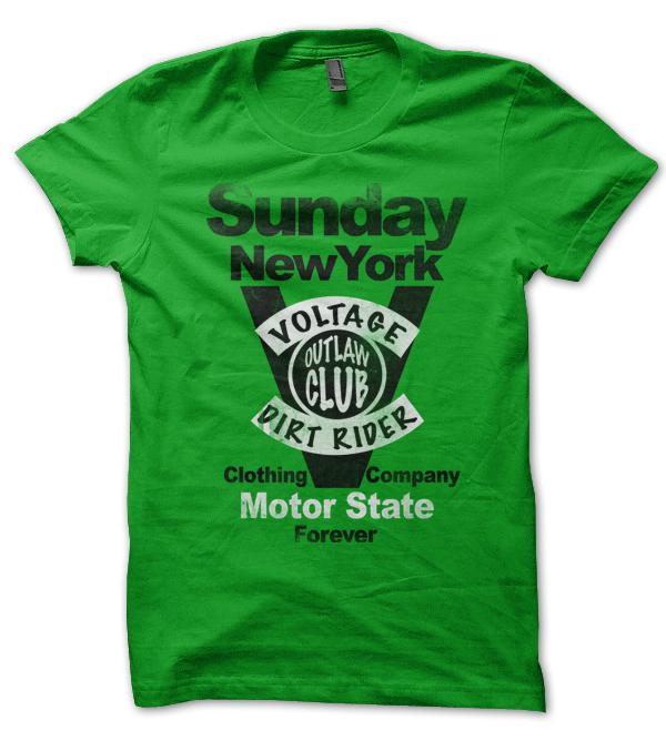 impression tshirt sunday vert kelly
