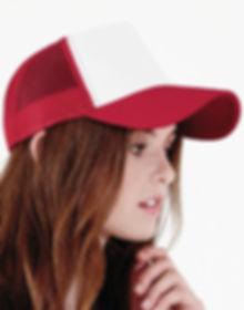 broderie logo sur casquette trucker snapback