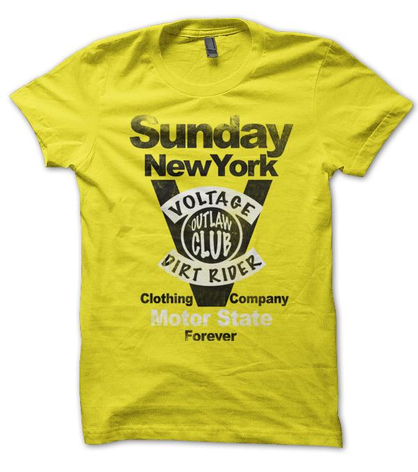 Tee shirt imprimé Sunday Jaune