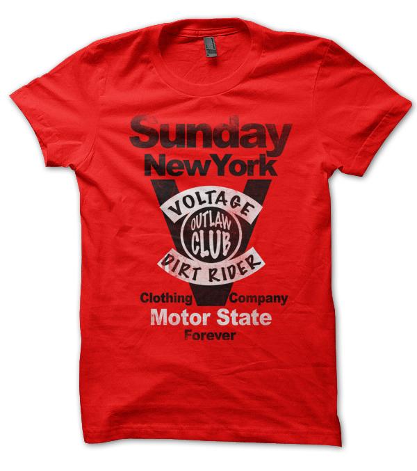 Teeshirt rouge Sunday Voltage