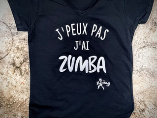 Impression des Tee Shirts ZinG, Zumba