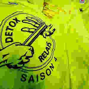 Tee Shirt sport, 100% polyester, impression 1 couleur sérigraphie noir pour Detox Relais