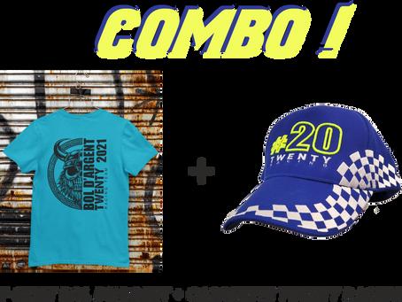 Pack Casquette + T-shirt Twenty Racing Bol d'Argent !