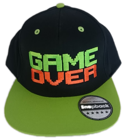 Casquette Snapback Game Over Brodé