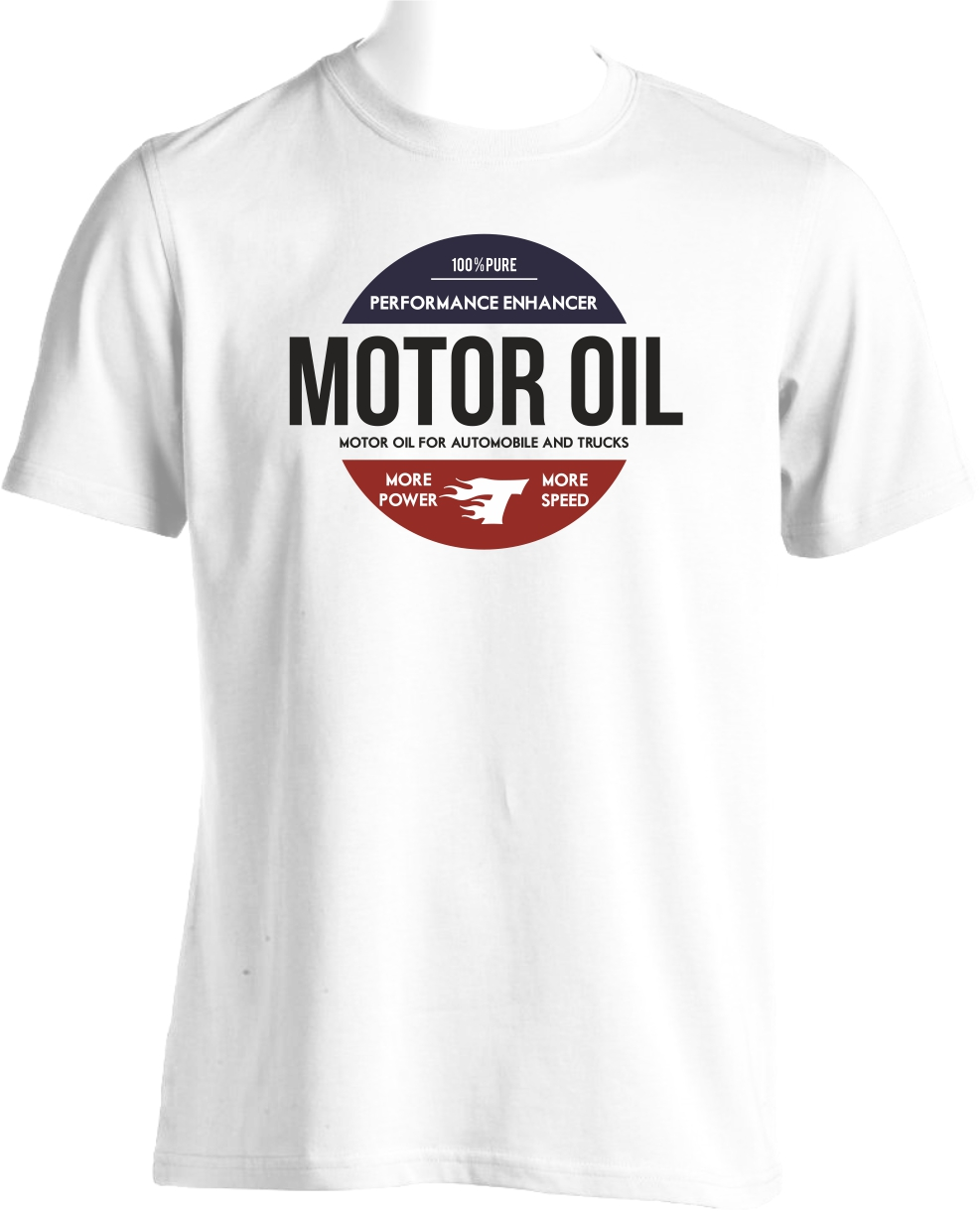 flocage tee shirt motor oil