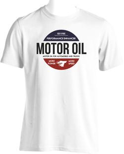 flocage tee shirt motor oil