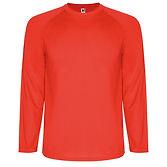 sérigraphie t shirt, tee shirt manche longues sport rouge