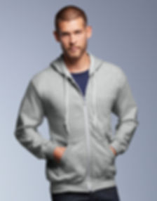 Anvil sweat shirt hooded zip