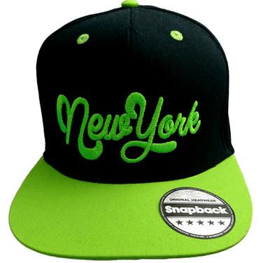 Snapback noir et vert NewYork
