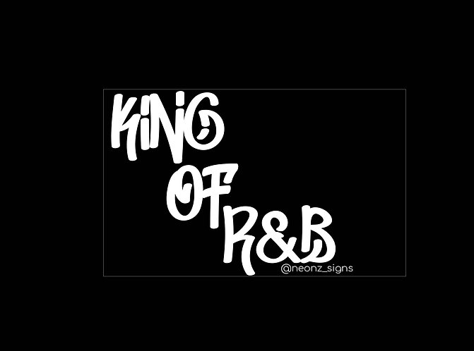 King OF R&B   LED style neon sign (hand made wall art )