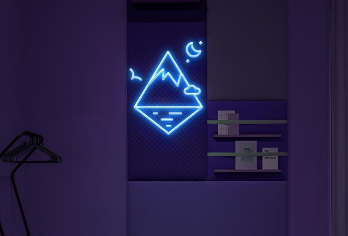 Nature + Mountain  Neon Sign