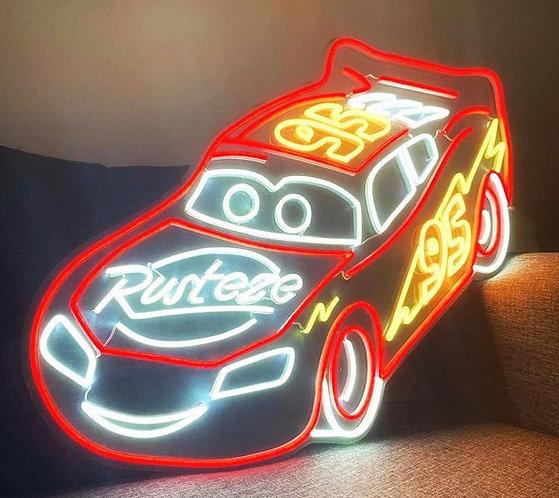 Lightning McQueen Neon Sign