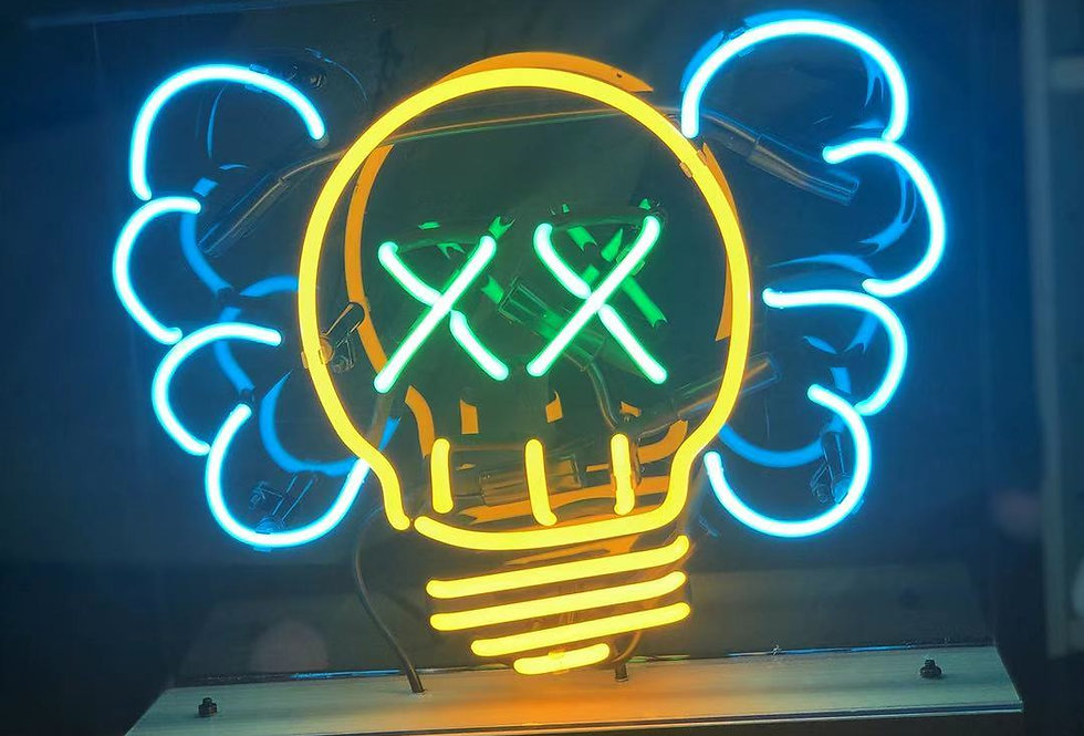 Kaws Head Neon Sign