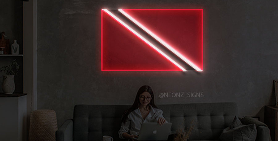 Trinidadian Flag Neon Sign