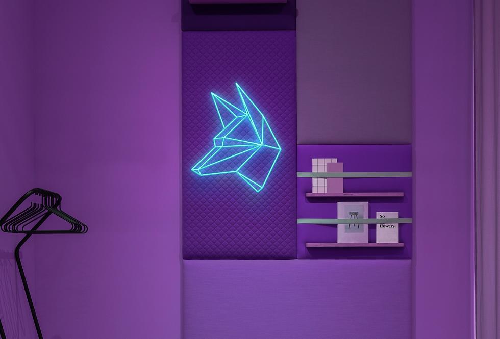 Geometrical Wolf Neon Signs 2.75
