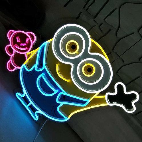Bob the minion neon signs wall art 3ft