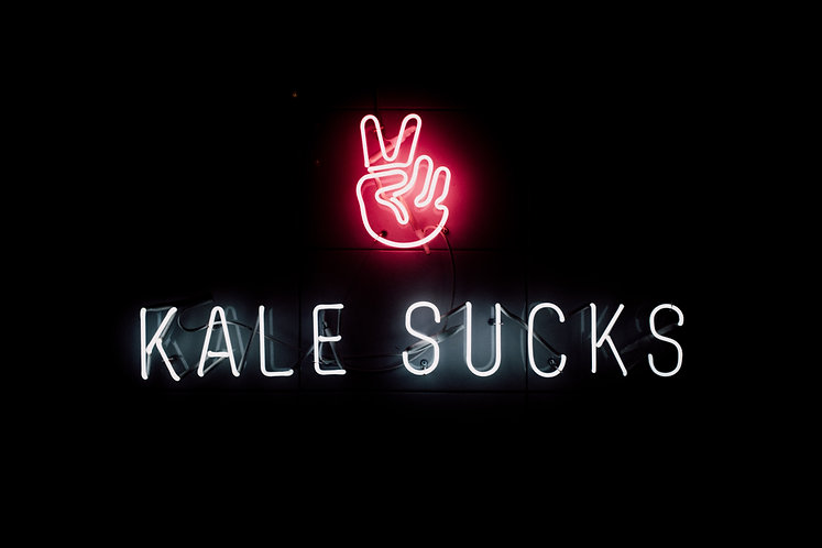 Kale Sucks Neon Sign for Restaurants