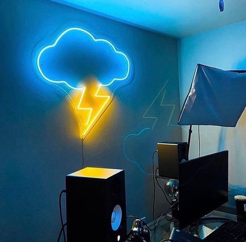Thunderstorms Neon Sign