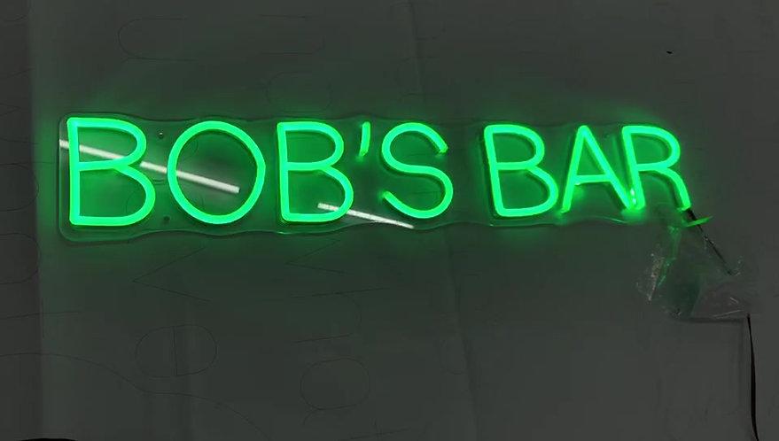Bob's Bar Custom Neon Sign Wall Art