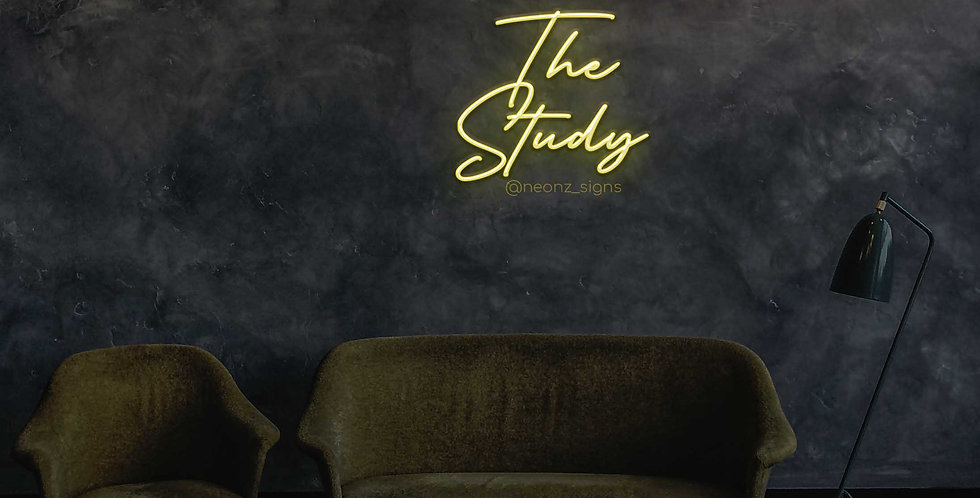 The Study Led Neon Sign
