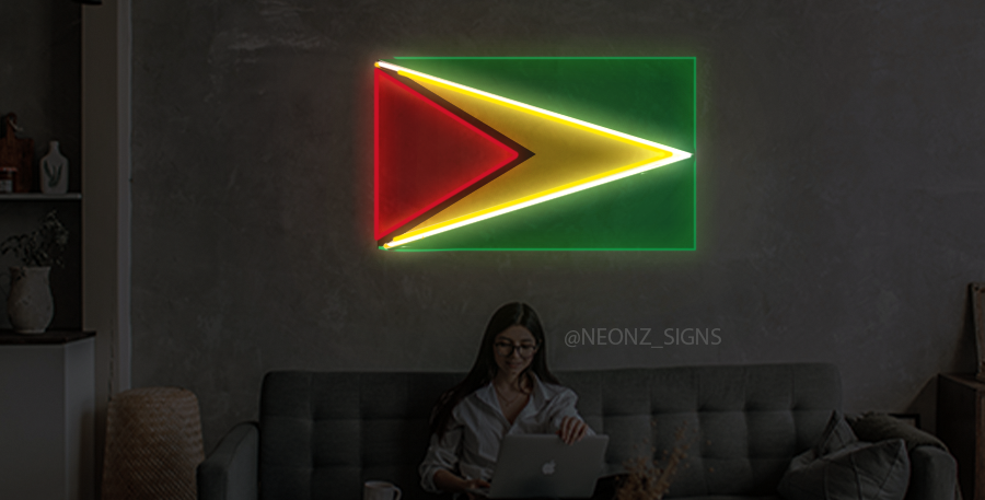 Guyanese Flag Neon Sign