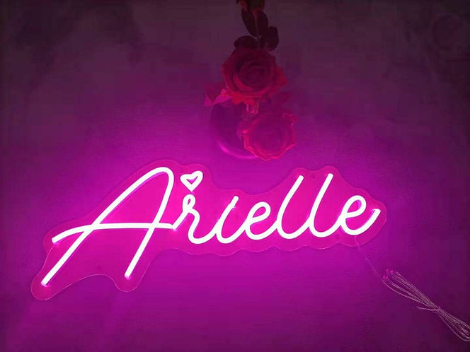 Get a neon sign in this font