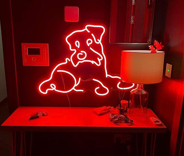 Dog neon signs for dog houses