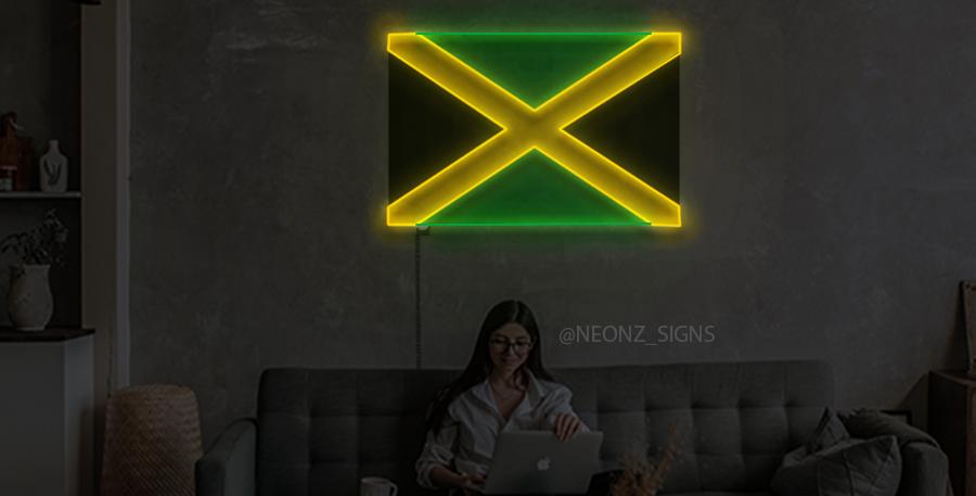 Jamaican Flag Neon Sign