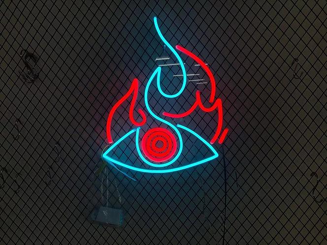 Fire Eye Custom Neon sign