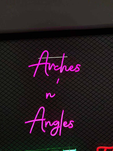 Arches n' Angels Custom Neon sign